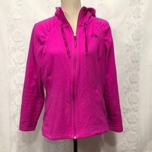 The North Face Hot Pink Fleece Zip Up Hoodie L